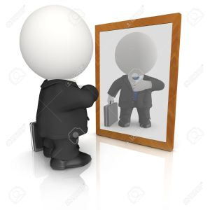 9372926-3D-vain-business-man-looking-in-the-mirror-isolated-Stock-Photo